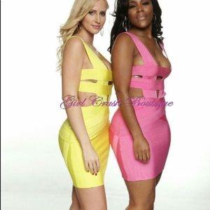 Dresses & Skirts - Yellow Strappy Bandage Dress